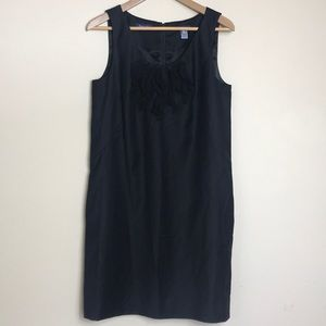 J Crew Super 120s Black Sheath Dress